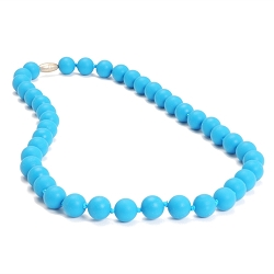 chewbeads - jane teething necklace - deep sea blue