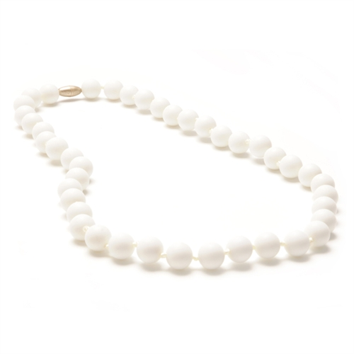 chewbeads - jane teething necklace - white