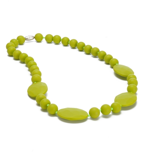chewbeads - perry teething necklace - Chartreuse