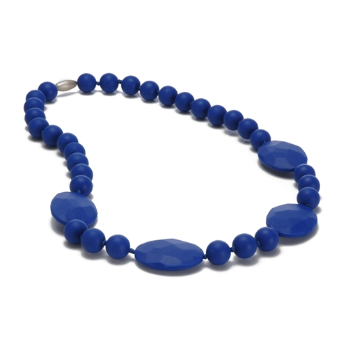 chewbeads - perry teething necklace - cobalt