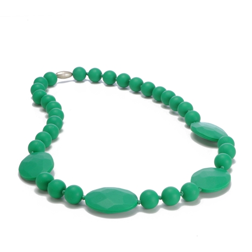 chewbeads - perry teething necklace - green