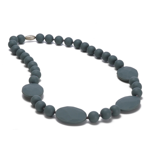 chewbeads - perry teething necklace - grey