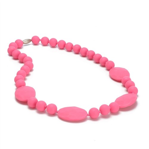 chewbeads - perry teething necklace - pink