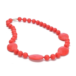 chewbeads - perry teething necklace - red