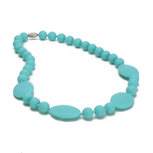 chewbeads - perry teething necklace - Turquoise