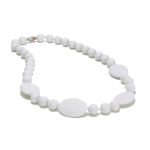 chewbeads - perry teething necklace - white