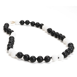 chewbeads - waverly teething necklace - black