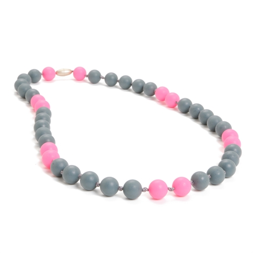 chewbeads - waverly teething necklace - grey