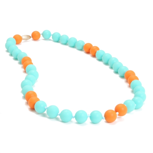 chewbeads - waverly teething necklace - turquoise