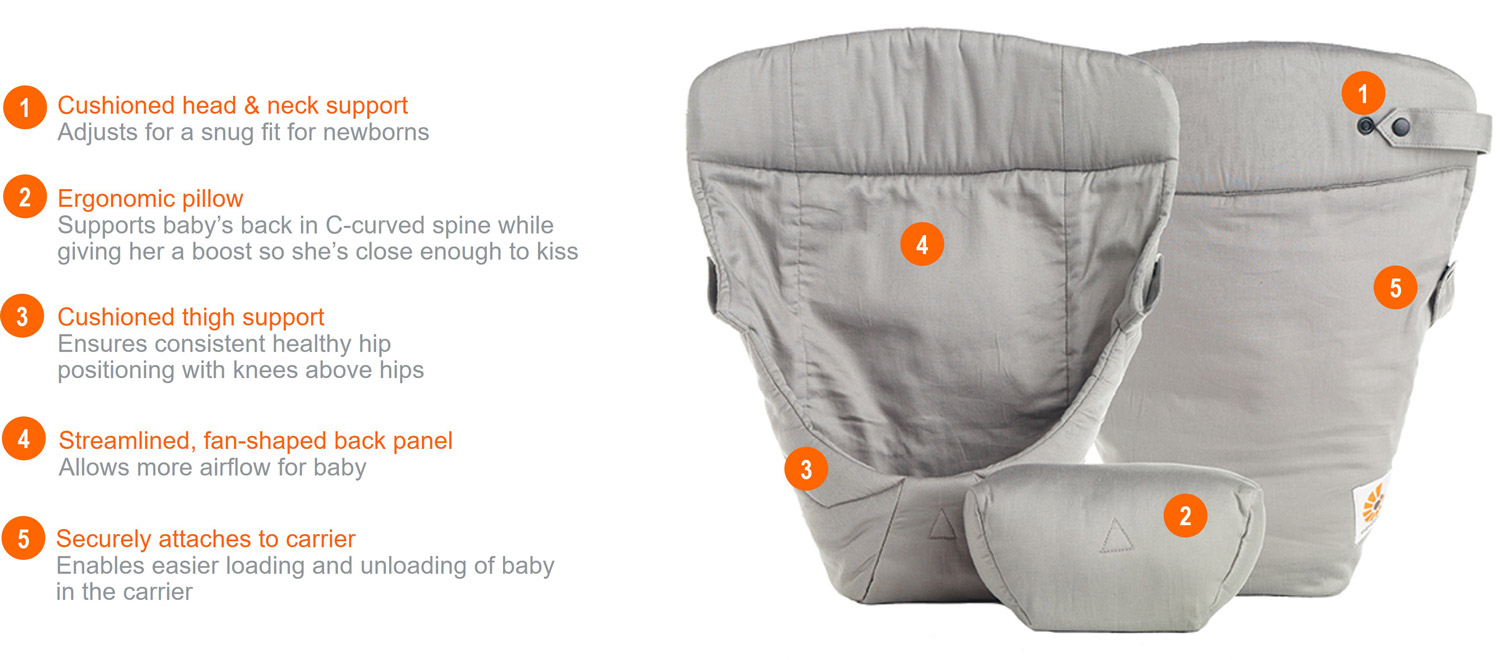 ERGObaby Easy Snug Infant Insert - Original Natural