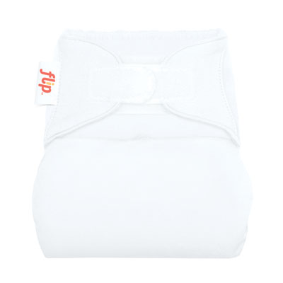 flip one size cover velcro - white