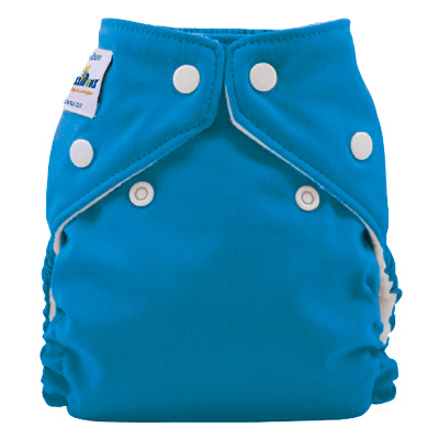 fuzzibunz one size elite diaper -  Blue Lagoon