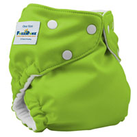 fuzzibunz one size elite cloth diaper - applegreen
