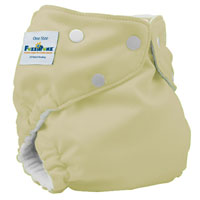 fuzzibunz one size elite cloth diaper - buttercream