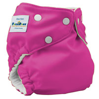 fuzzibunz one size elite cloth diaper - crushedberries