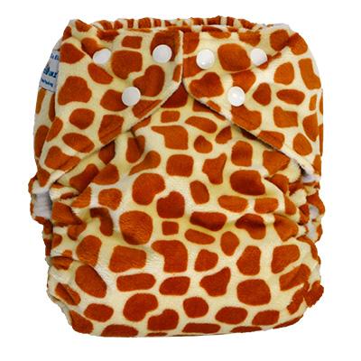 fuzzibunz one size elite cloth diaper - giraffe