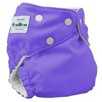 fuzzibunz one size elite cloth diaper - grape