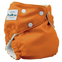 fuzzibunz one size elite cloth diaper - kumquat