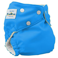 fuzzibunz one size elite cloth diaper - lightitupblue