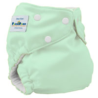 fuzzibunz one size elite cloth diaper - mint