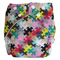 fuzzibunz one size elite cloth diaper - puzzle girl