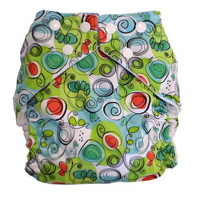 fuzzibunz one size elite cloth diaper - swirls
