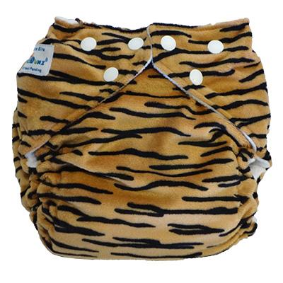 fuzzibunz one size elite cloth diaper - tiger