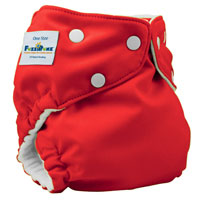 fuzzibunz one size elite cloth diaper - watermelon