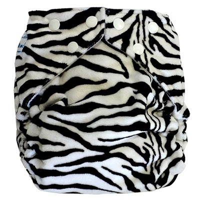 fuzzibunz one size elite cloth diaper - zebra