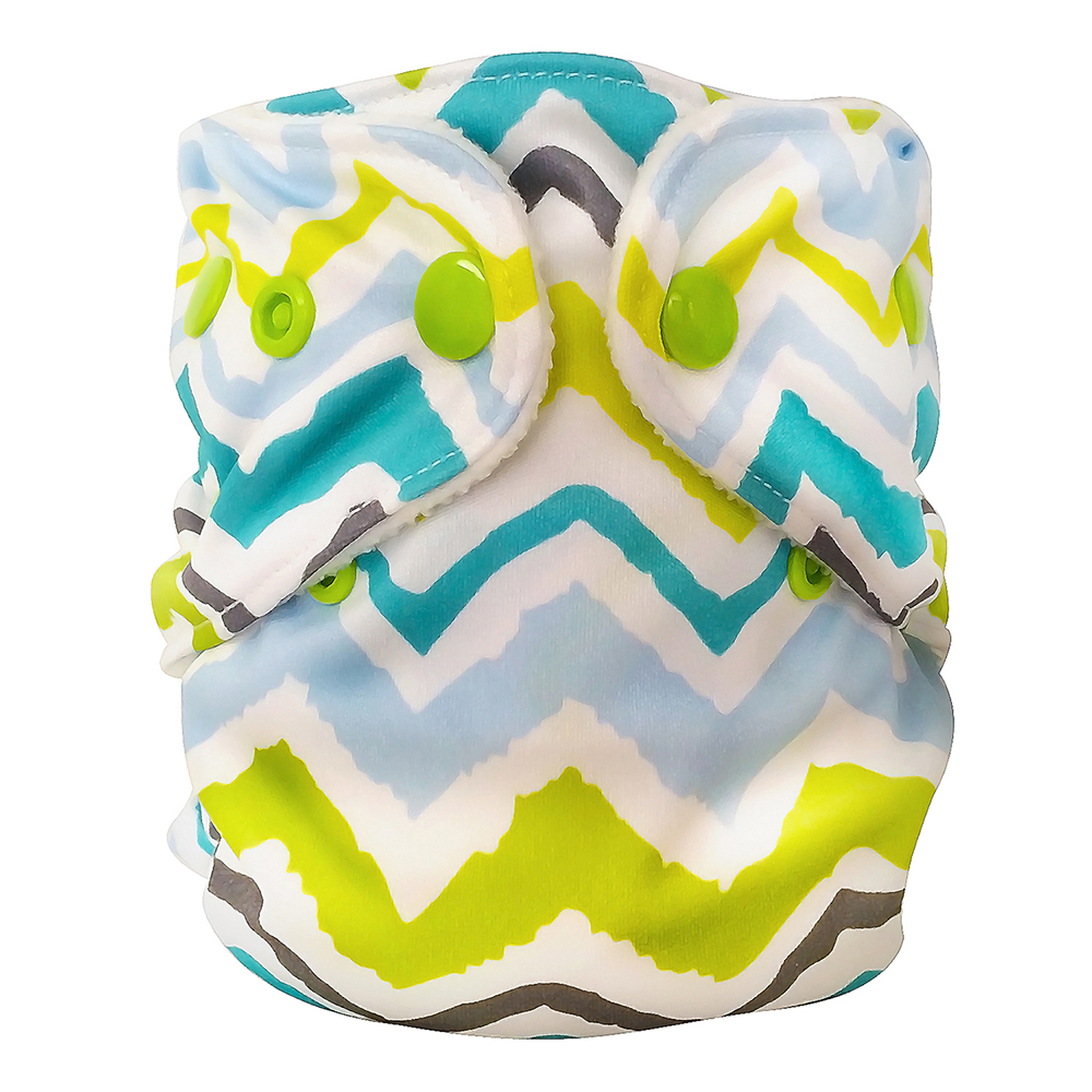 fuzzibunz first year adjustable diaper - Chevron