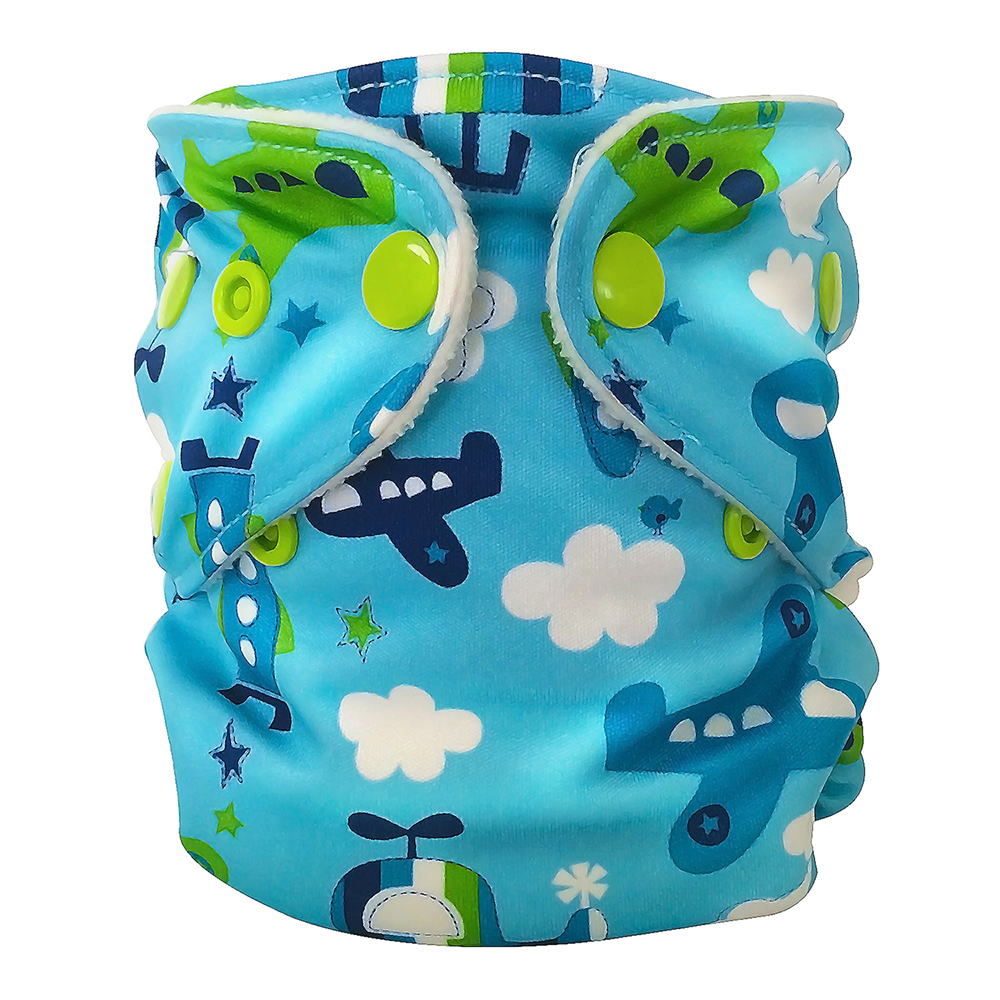 fuzzibunz first year adjustable diaper - FLY BOY
