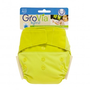 GroVia One Size Cloth Diaper Shell Set - citrus