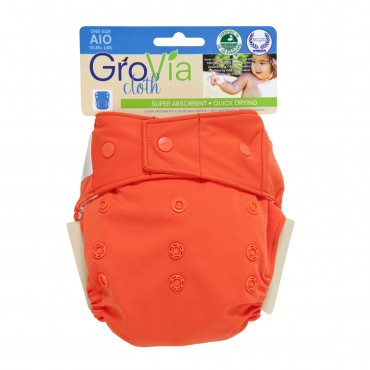 GroVia One Size Cloth Diaper Shell Set - Persimmon