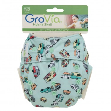 GroVia One Size Cloth Diaper Shell Set - Adventure