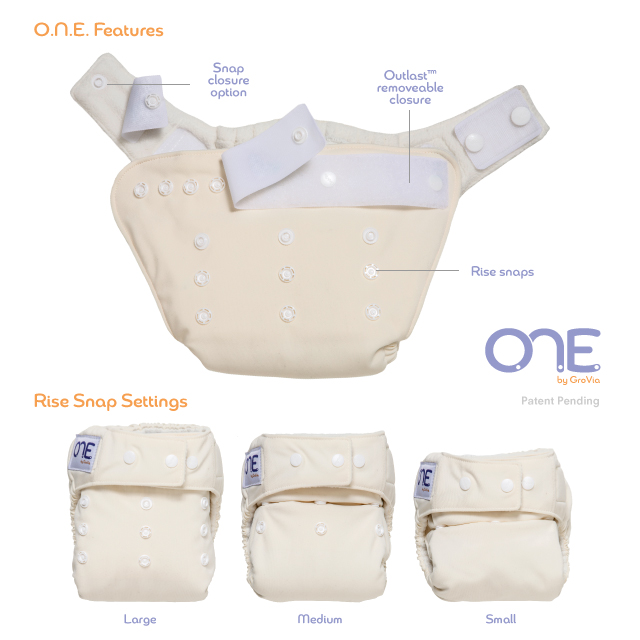 grovia one diaper - o.n.e diaper - detail 3