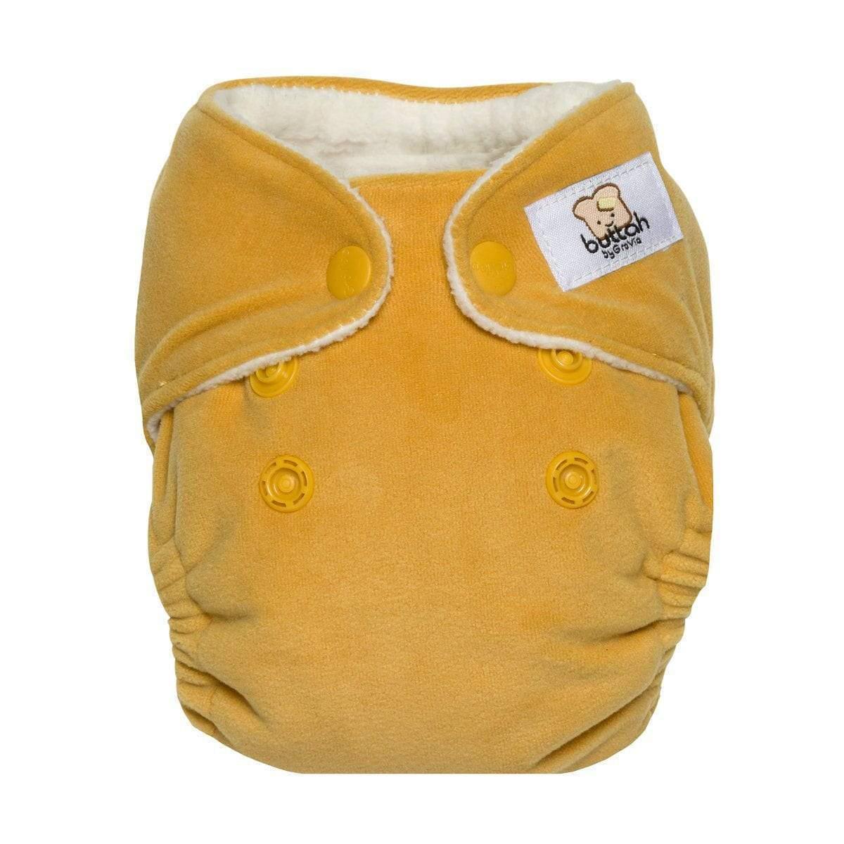 GroVia battah newborn diapers - glacier