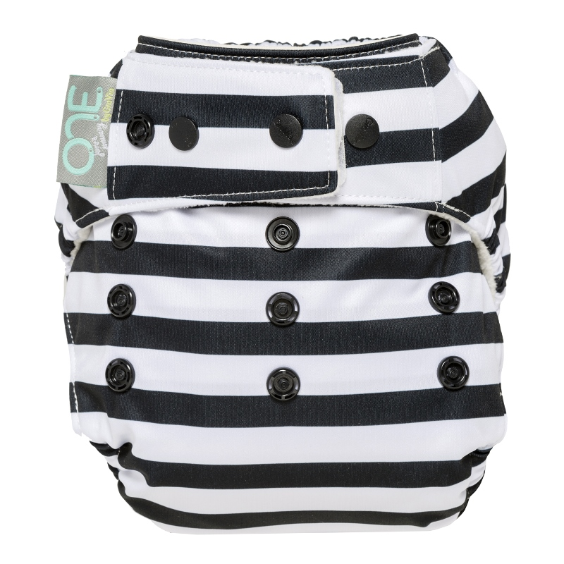 grovia one diaper - onyx stripe