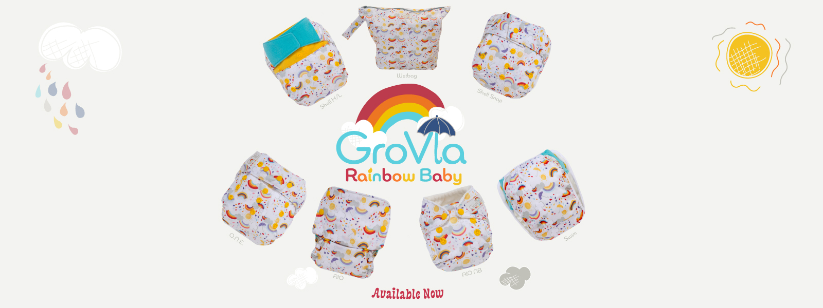 grovia cloth diapers - rainbow baby launch