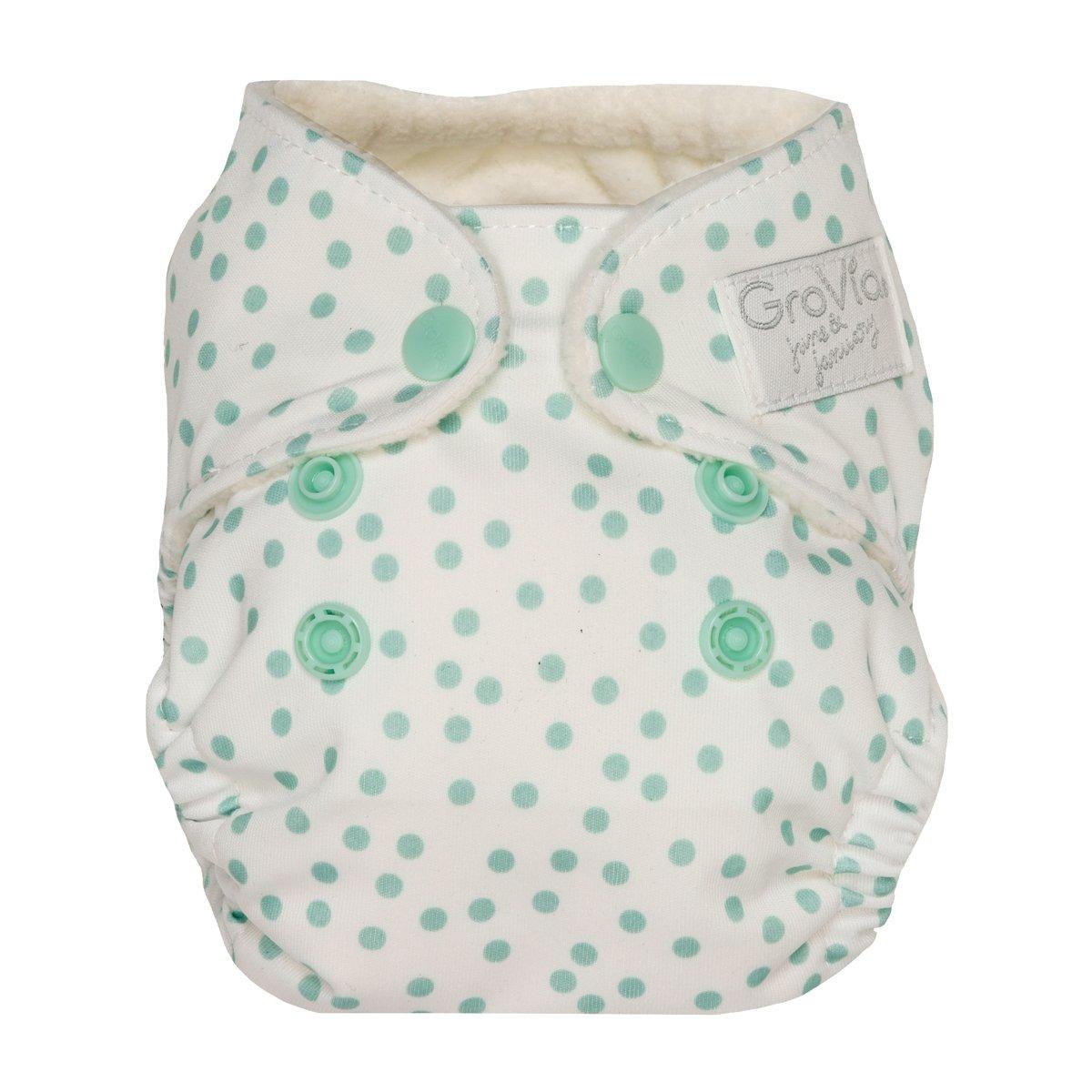 grovia newborn all in one -  Soft Mint Dot