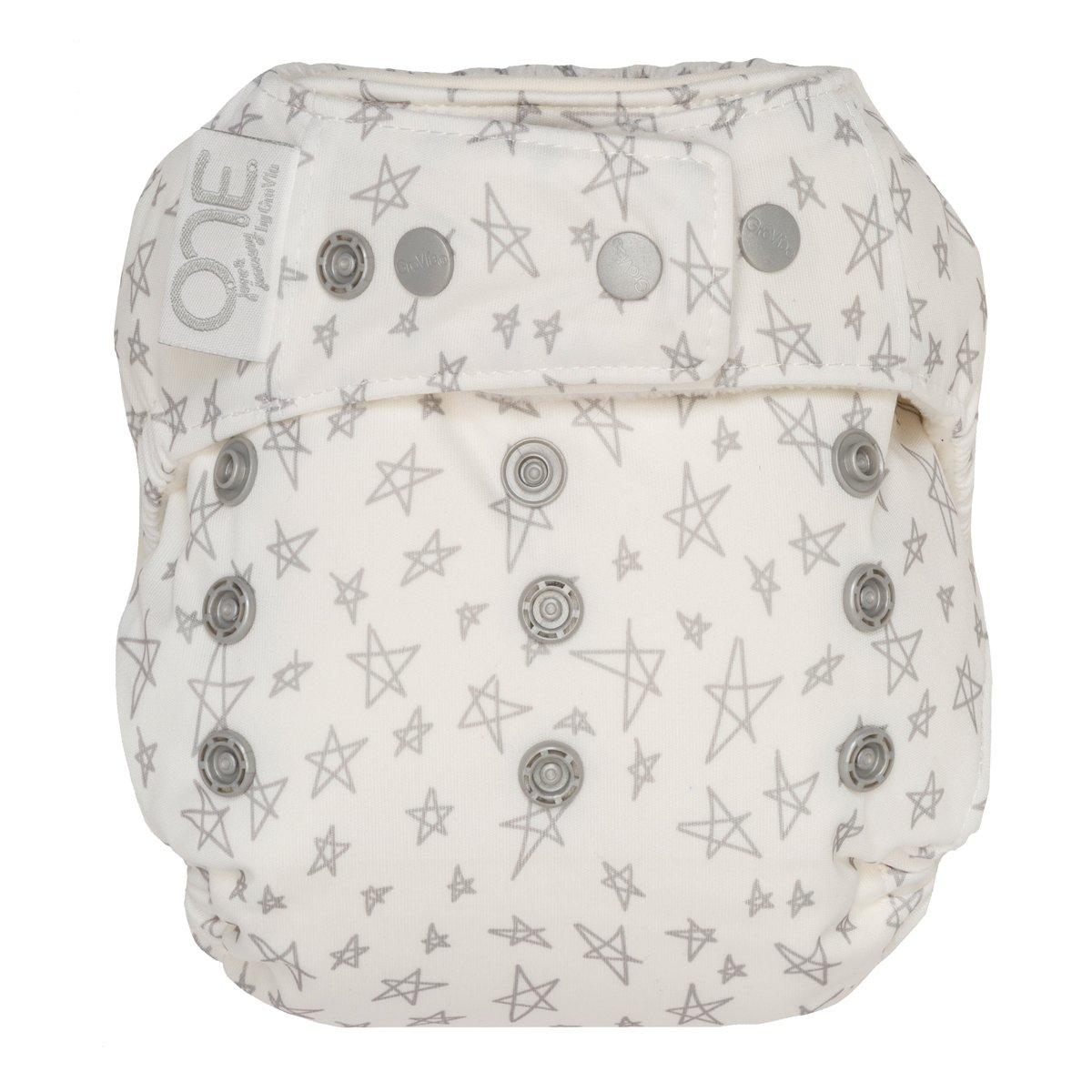 GroVia One Size Cloth Diaper Shell Set -  Slate Stars