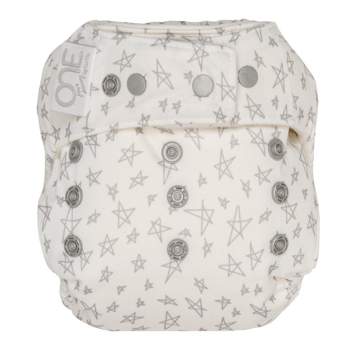 GroVia One Size Cloth Diaper Shell Set -  Slate Stars