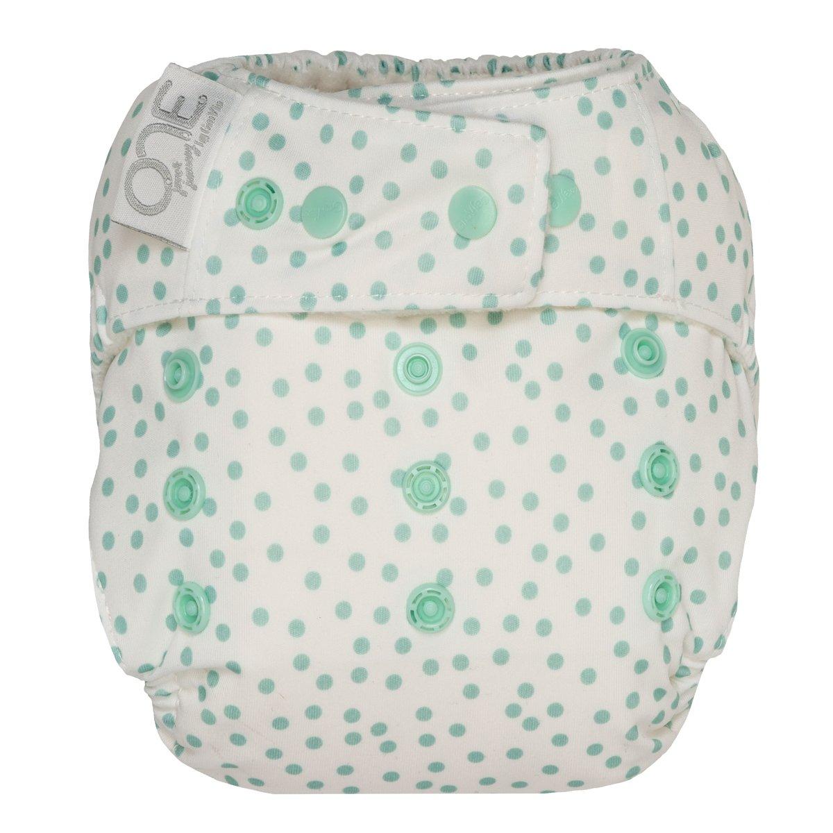 GroVia One Size Cloth Diaper Shell Set -  Soft Mint Dot