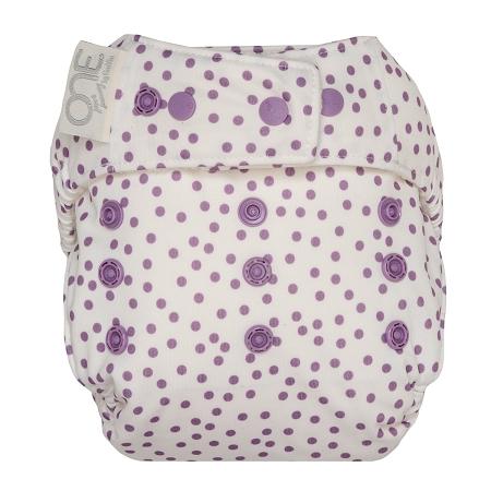 GroVia One Size Cloth Diaper Shell Set - Violet Dot