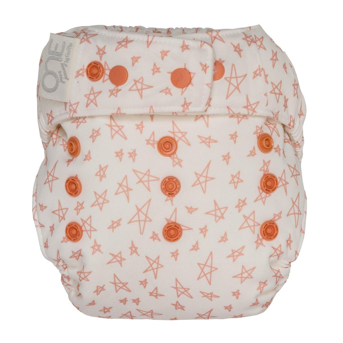 GroVia One Size Cloth Diaper Shell Set -  Grapefruit Stars