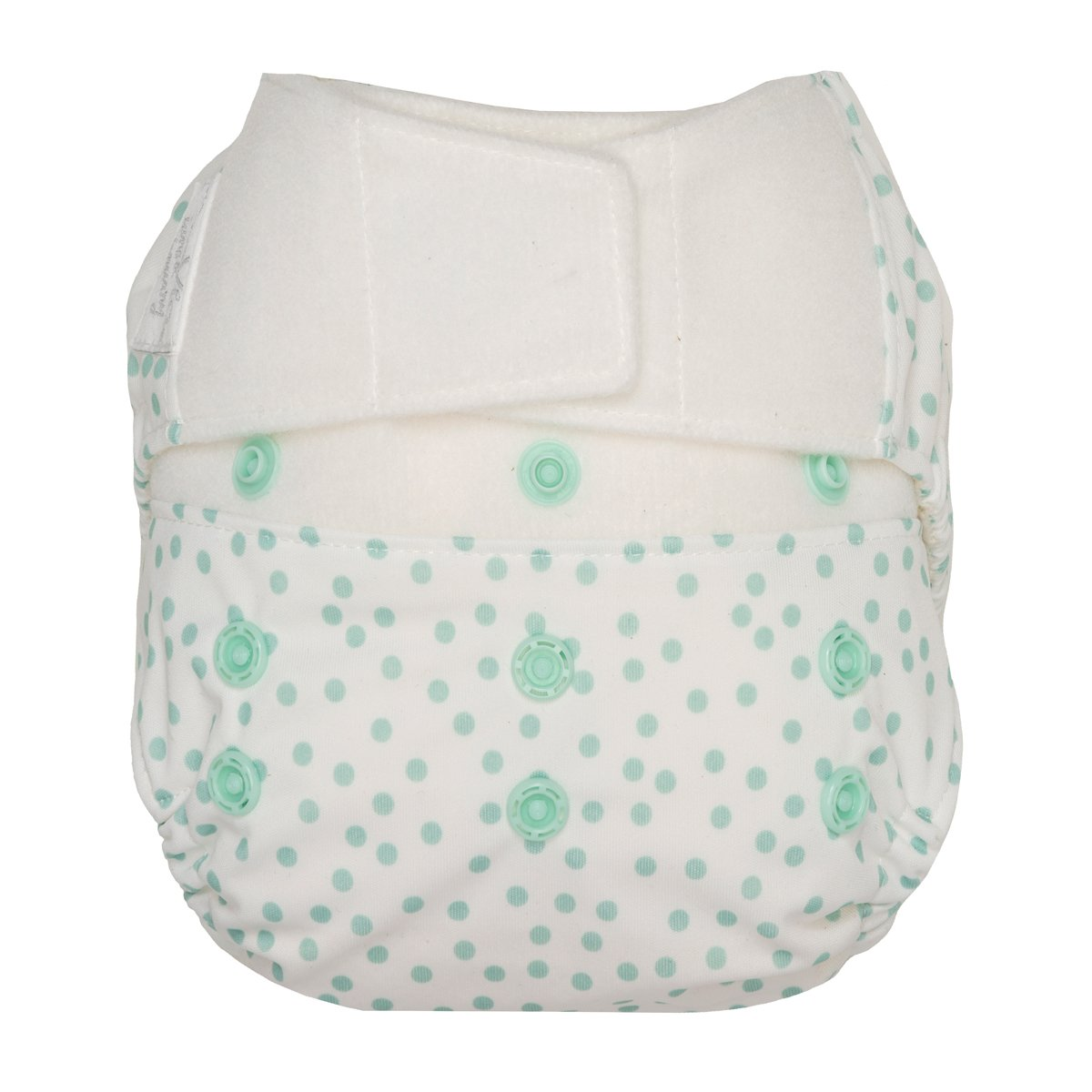 GroVia One Size Cloth Diaper Shell Set -  Soft Mint Dot