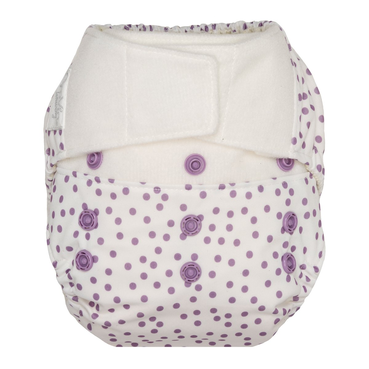 GroVia One Size Cloth Diaper Shell Set -  Violet Dot