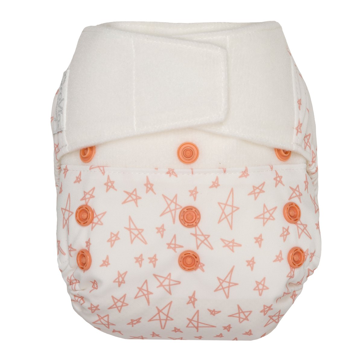 GroVia One Size Cloth Diaper Shell Set -  Grapefruit Stars