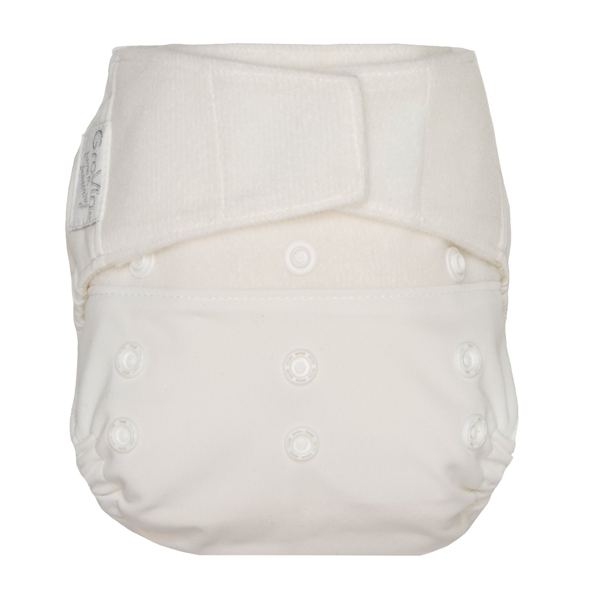 GroVia One Size Cloth Diaper Shell Set - snow white