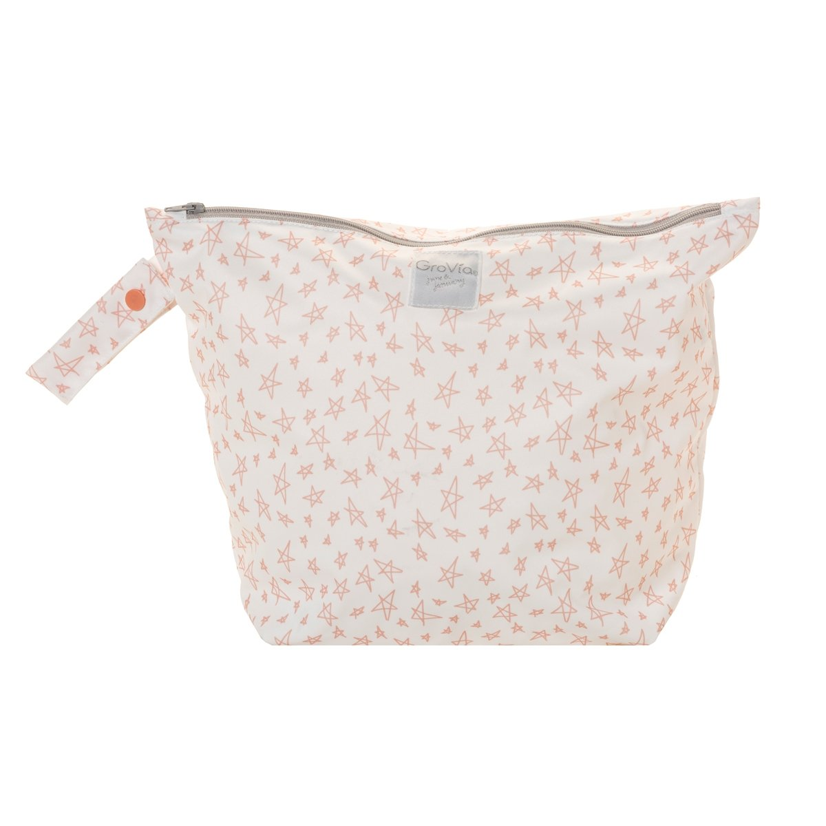 GroVia zipped wet bag - Grapefruit Stars