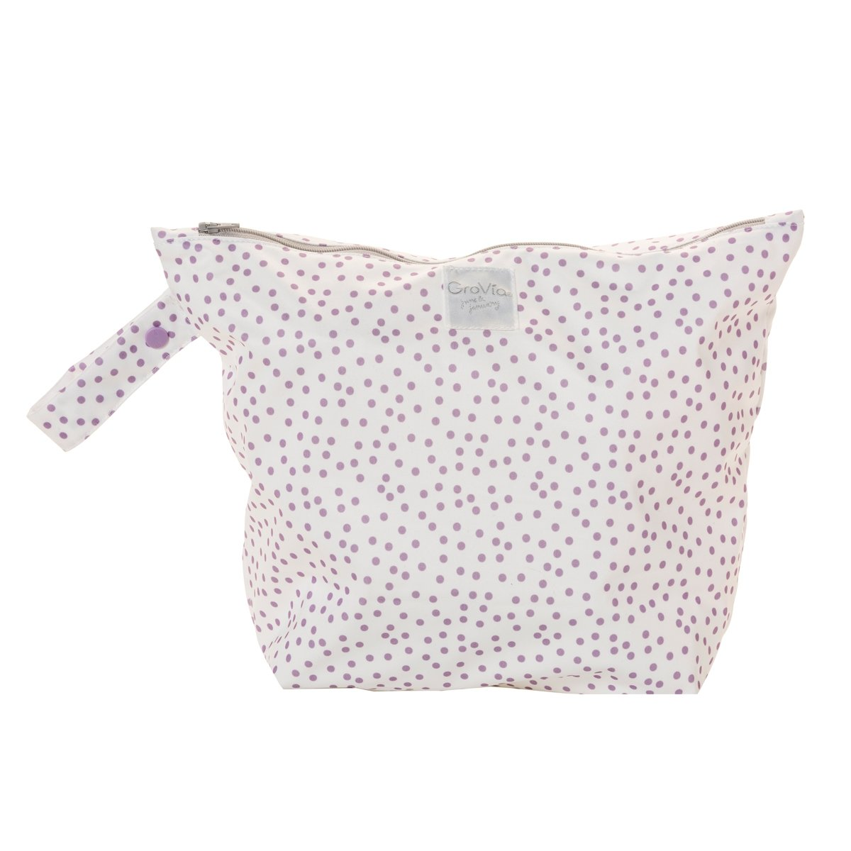 GroVia zipped wet bag -  Violet Dot